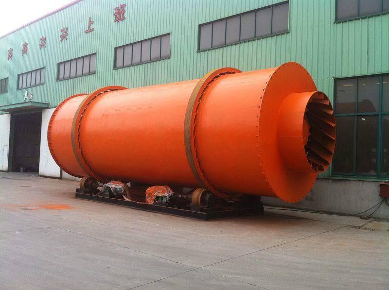 厂家定做煤电两用化肥料滚筒烘干机 果渣三回程烘干机