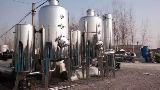 定做全新工业污水降膜蒸发器 三效5000L强制循环蒸发器