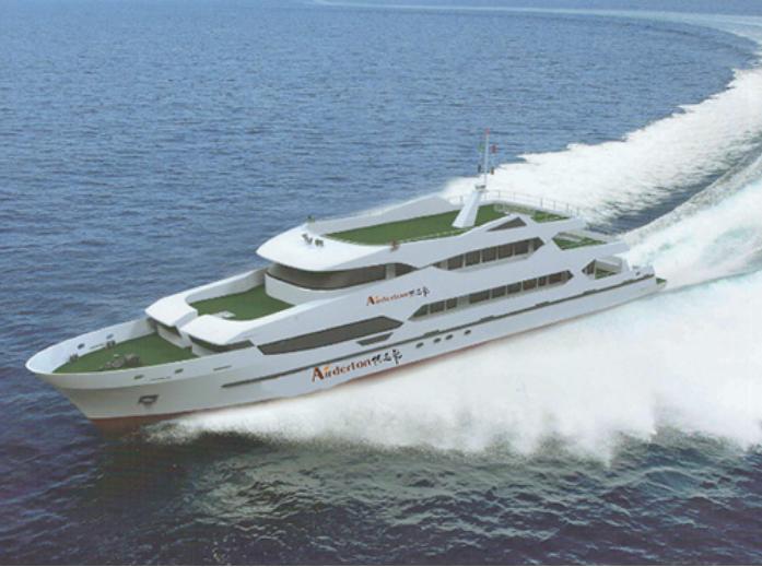 新型观光客船
