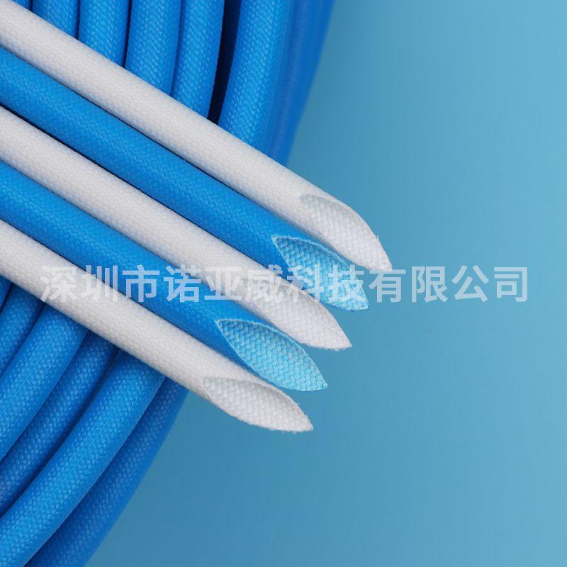 供应黑色纤维管 玻璃纤维套管 环氧硅树脂耐高温绝缘
