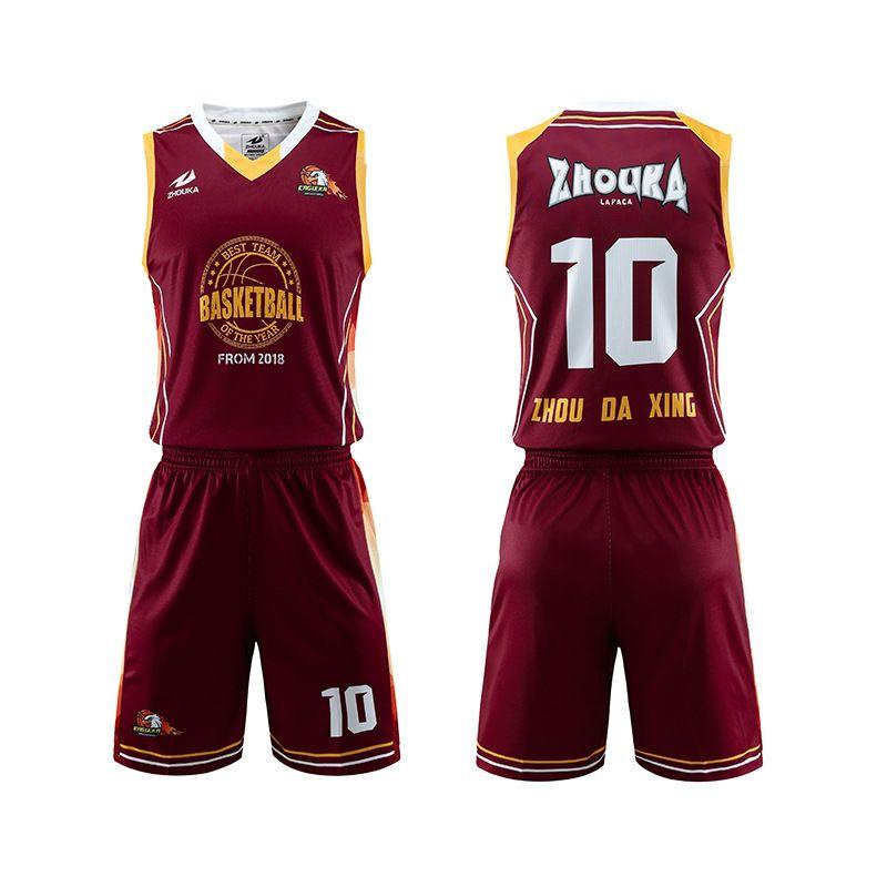 洲卡2020年厂家供应篮球服定制印字