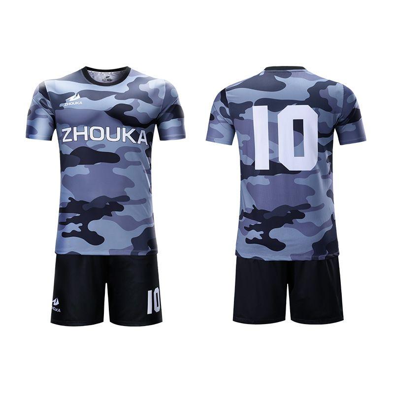 厂家热升华定制足球服diy足球衣来图来样定做