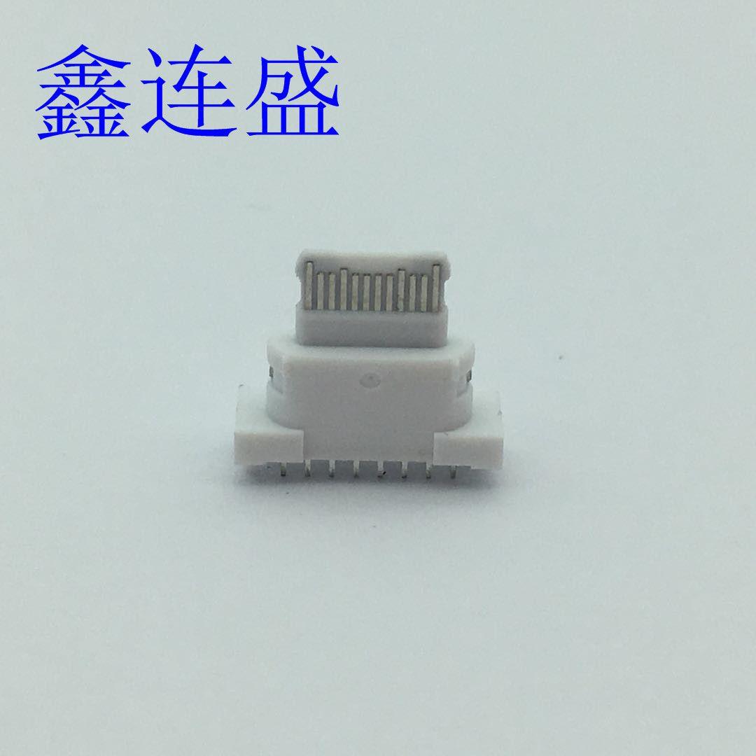 TYPE-C母座6P防水带固定脚 2脚插板端子SMT