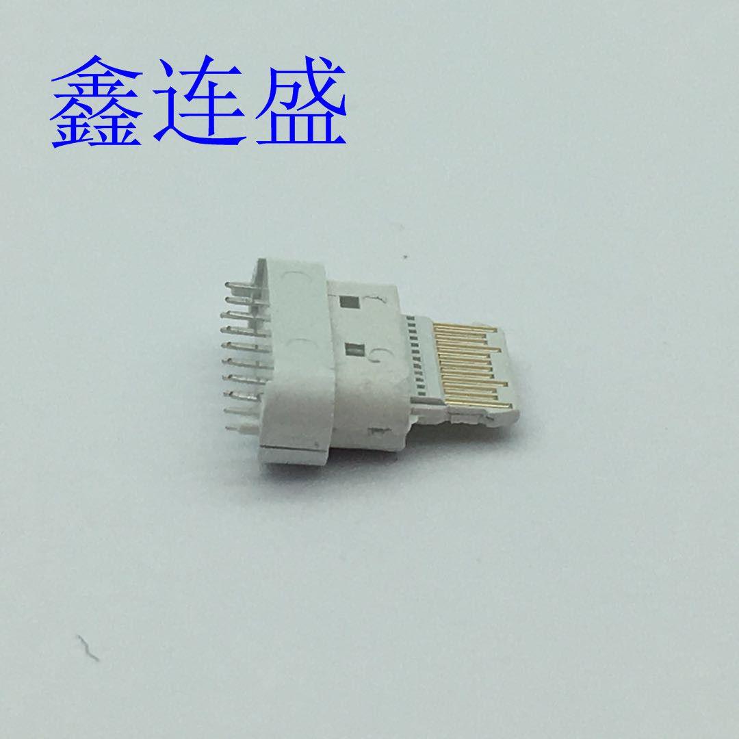 TYPE-C母座16P180度立式直插板DI18WPD快充插板替换中美/欧规