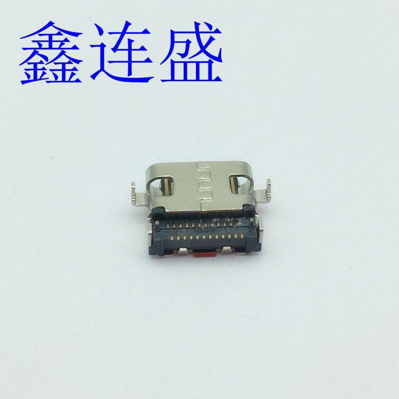 USB TYPE-C母座24p沉板双排贴板前插后贴