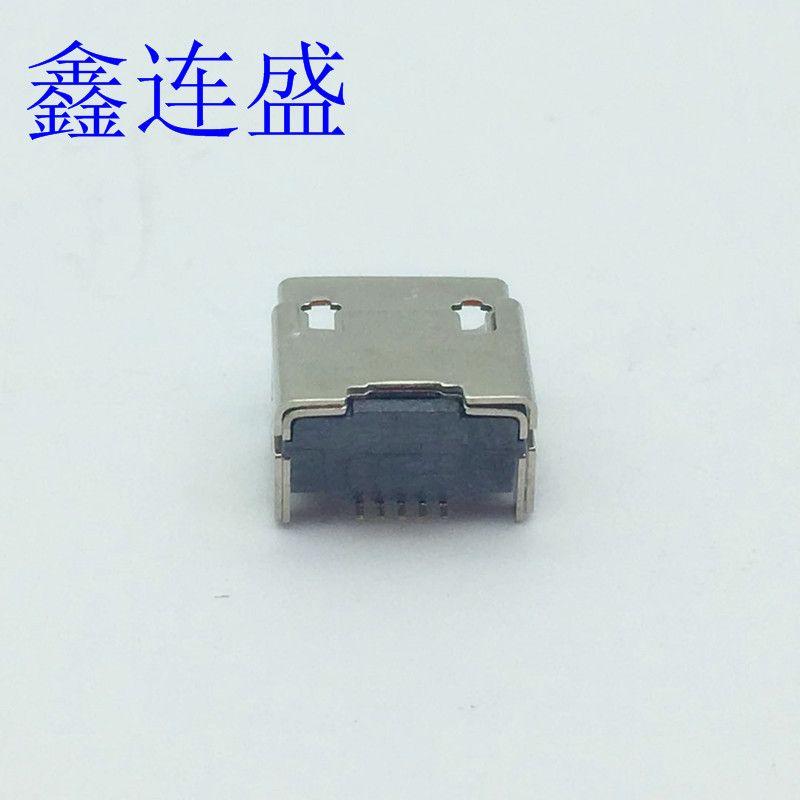 MICRO USB母座四脚插板垫高