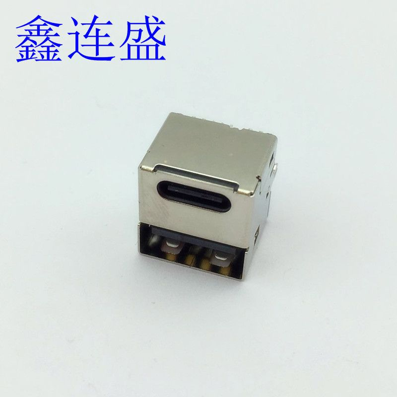 USB type-c母座+ USB 2.0 母座二合一