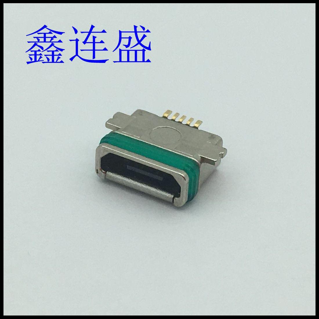 MICOR USB 5P 母座防水全贴 贴板