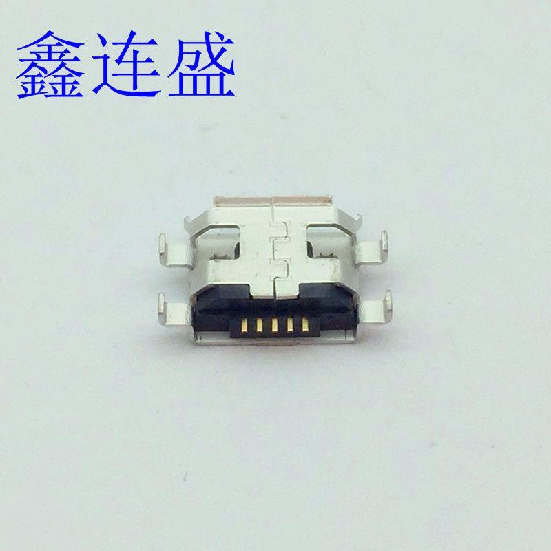 MICRO USB母座沉板1.6四脚插板