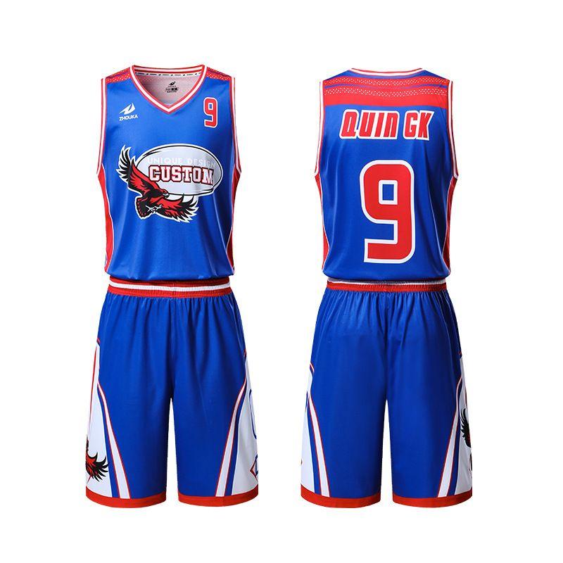 洲卡服装球服球衣定制篮球比赛服厂家直销个性化DIY