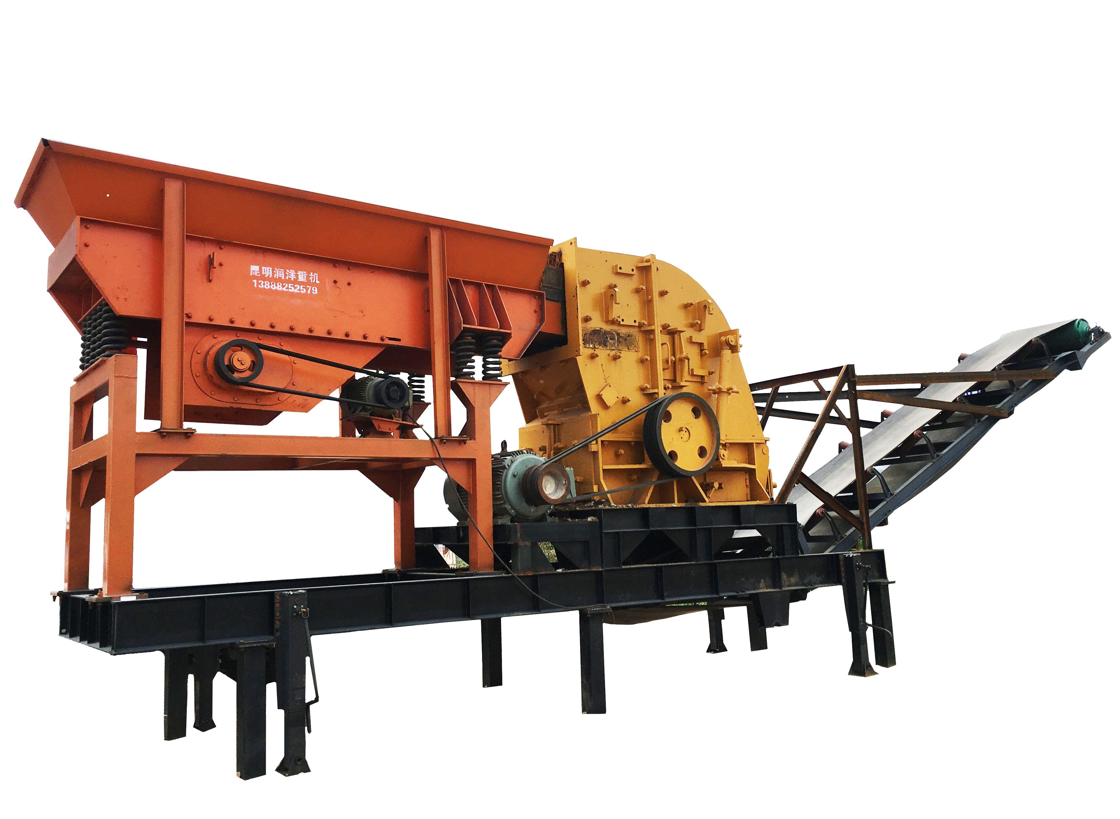 昆明礦山用移動破碎站 移動制砂機 煤炭沙石子破碎制砂機 廠價直銷
