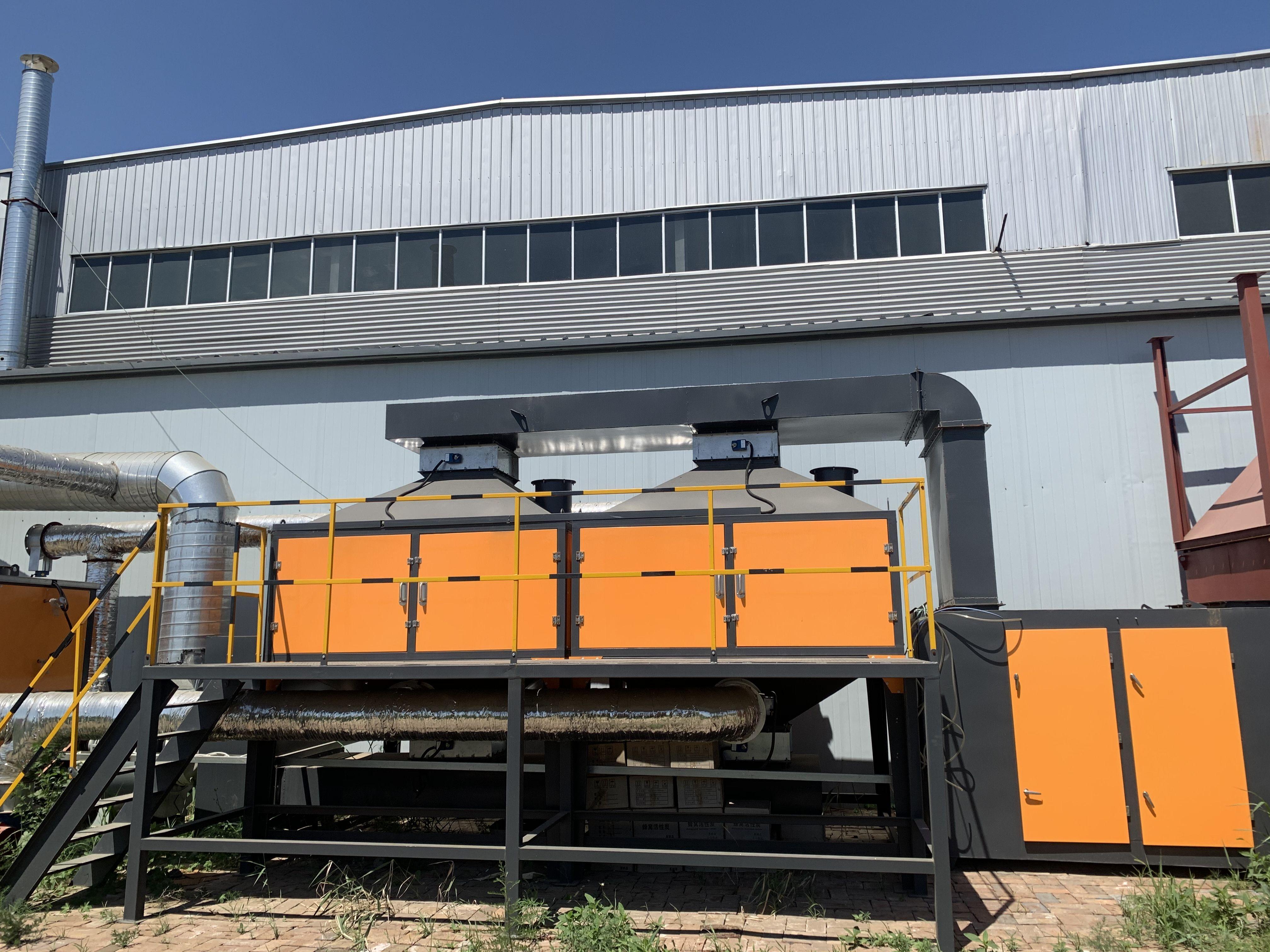 催化燃烧设备处理橡胶业废气流程有