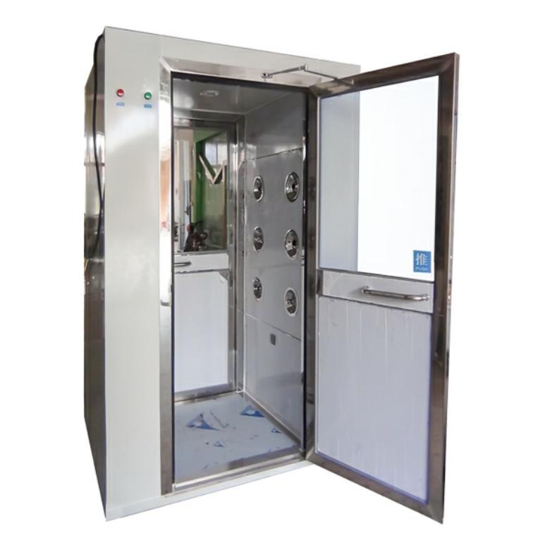 上海外冷板内不锈钢多人双吹风淋室
