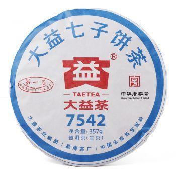 大益普洱茶1901 7542状元饼生茶价格-茶赢普洱茶行情专家