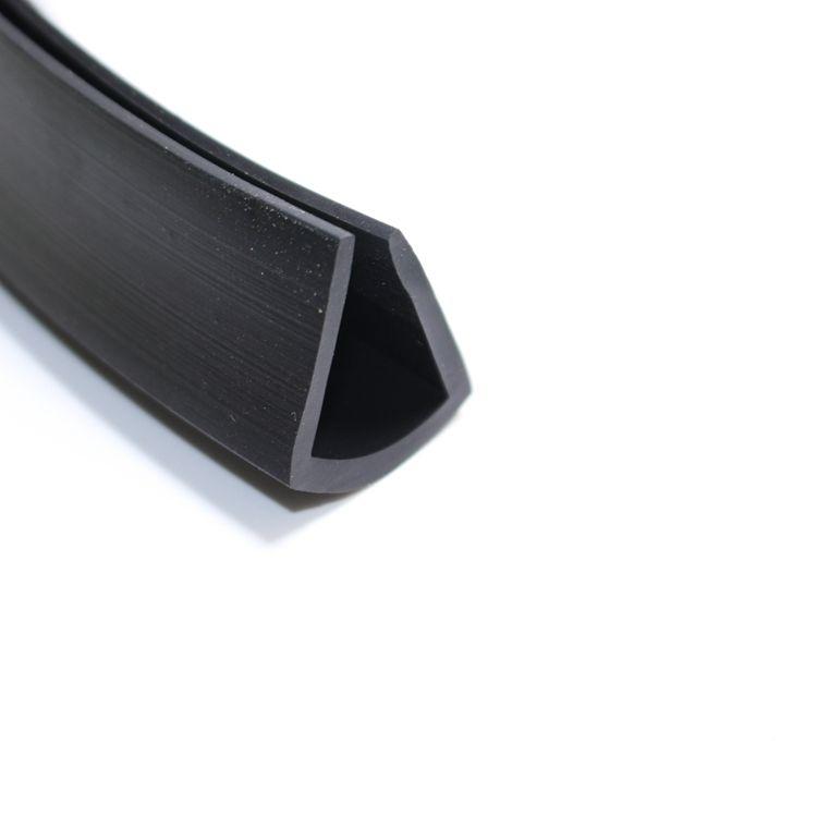 耐磨损U形铁板防划封边橡胶密封条