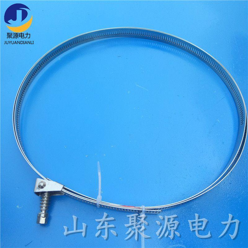 杆用引下金具 镂空钢带引下线夹 光缆固定器材 厂家直销