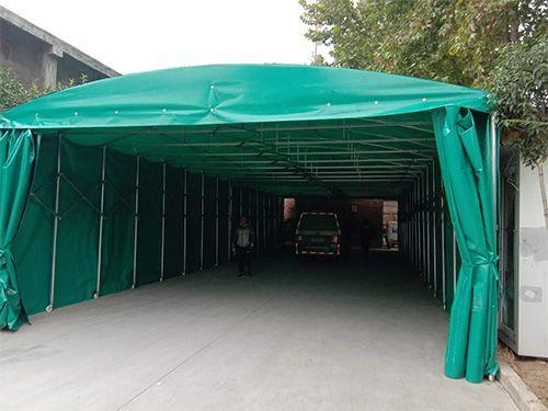 济南章丘推拉活动雨棚定做安装