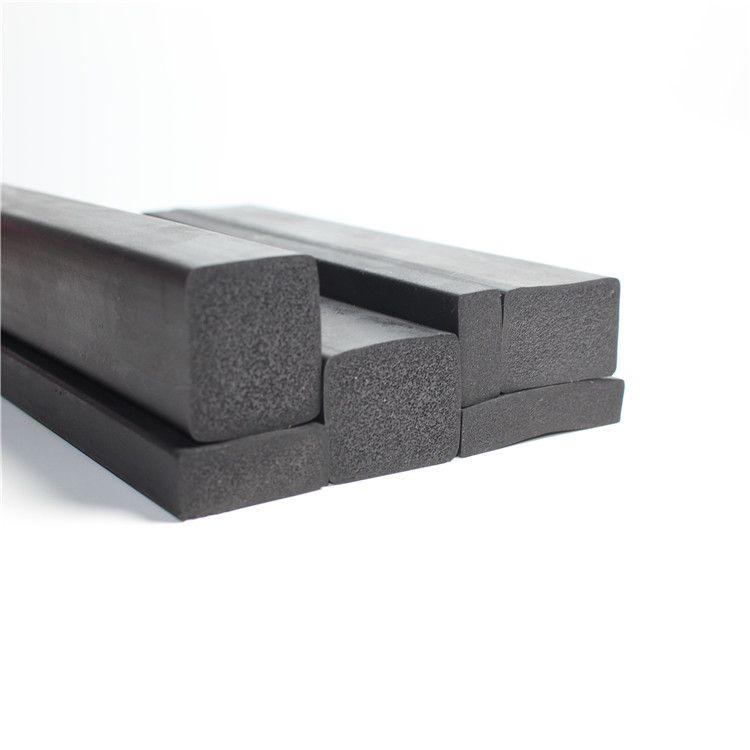 供应三元乙丙矩形长方形发泡体海绵橡胶密封条