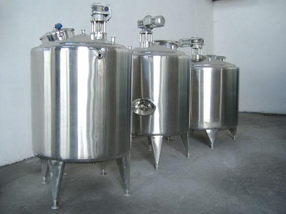 加工出售不锈钢立式药品搅拌罐 2吨不锈钢固定式真空搅拌罐