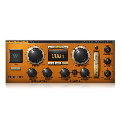 wa ves H-Delay 编曲混音效果器插件 混响与延迟