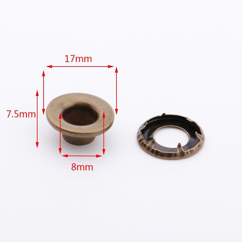 供应带爪鸡眼17*8*7.5mm铜质金色加厚垫片带爪