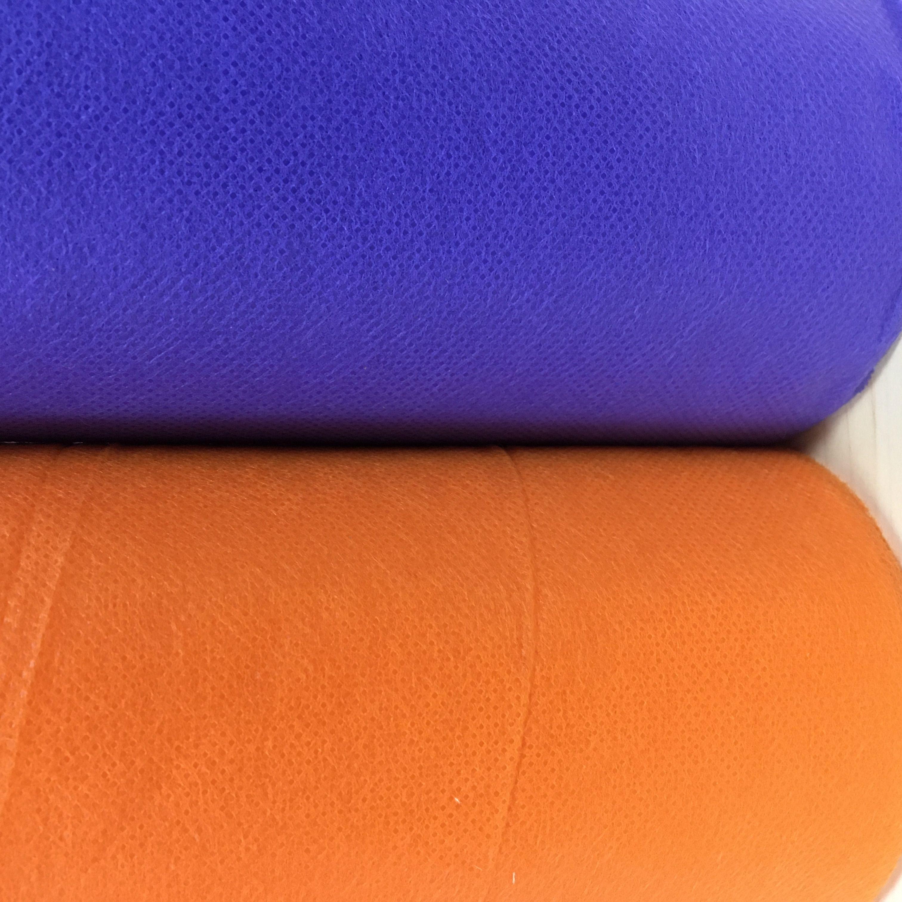 厂家直销现货供应橙色纺粘无纺布 规格可定制