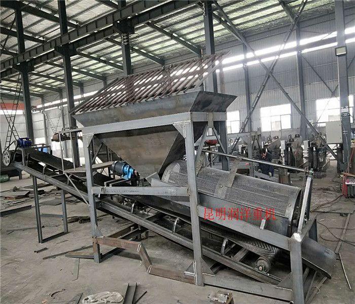 滚筒筛 云南无轴式滚筒筛 大型移动式石料木屑滚筒筛分机