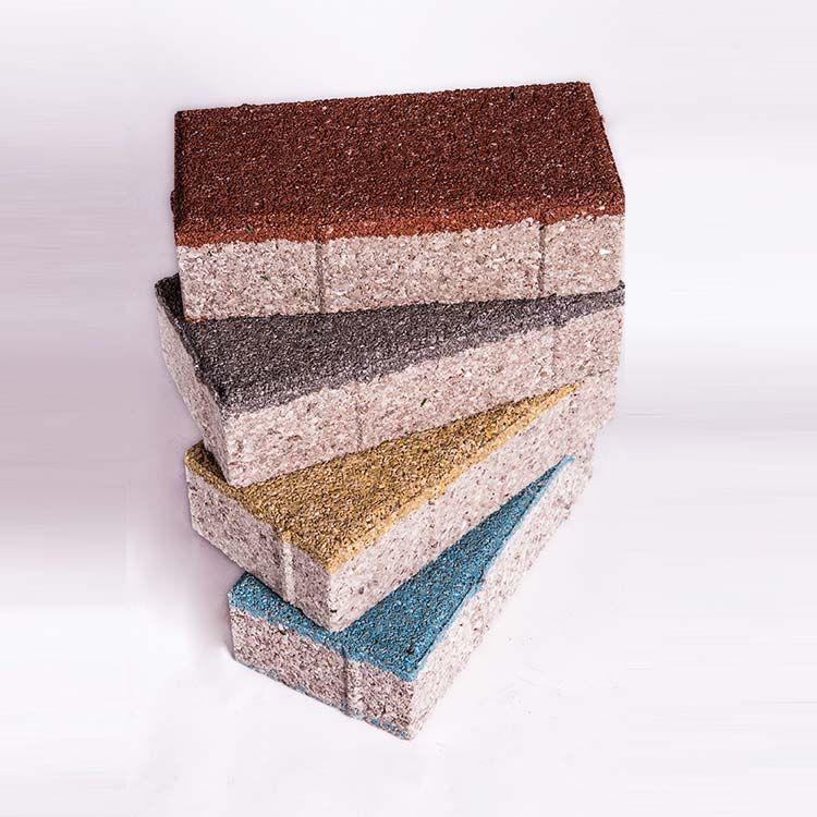寧彤陶瓷透水磚生產工藝兩布一壓的原理介紹