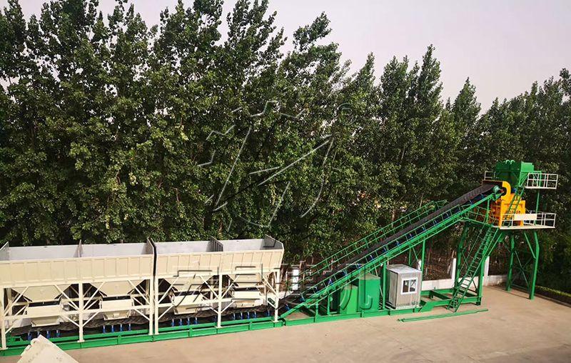 河南厂家直销新型免基础式混凝土搅拌站HZS60设备价格