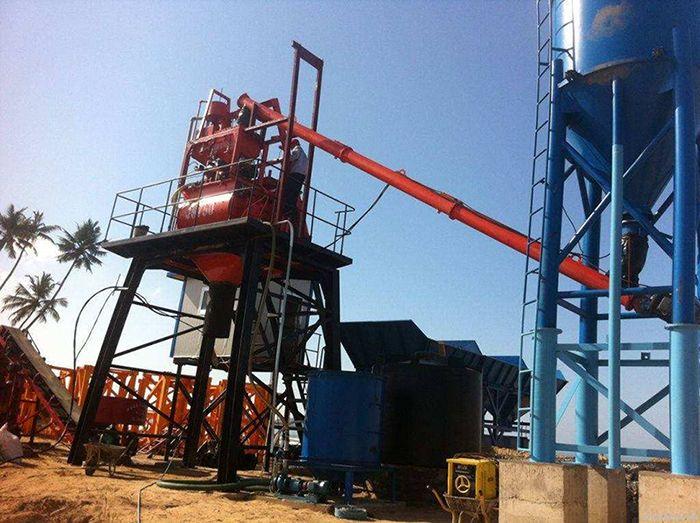 河南宏昌HZS35小型工程混凝土搅拌站设备厂家直销
