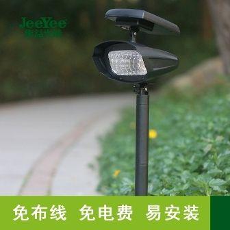 太阳能柱头灯围墙灯栏杆灯花园改造家用光控感应路灯批发
