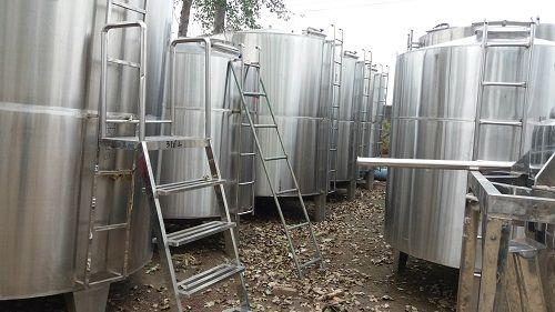 加工定做30立方白钢储罐 食品级储液储水罐