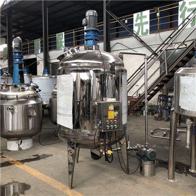 不锈钢液体搅拌罐电加热反应釜溶解罐建筑胶水熬胶罐恒温乳化罐
