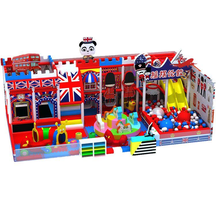 廠家定制英倫風淘氣堡兒童樂園游樂設備