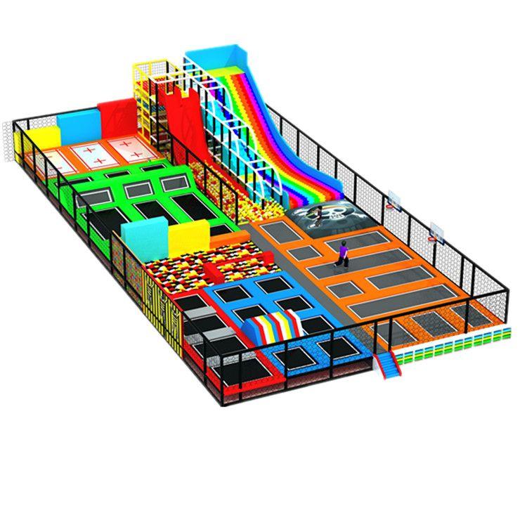 大型室內網紅蹦床成人健身運動蹦床公園兒童海綿池設備廠家
