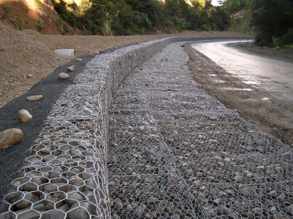 【石籠網】批發河道治理防汛雷諾護墊水利工程鍍鋅包塑鐵絲格賓網