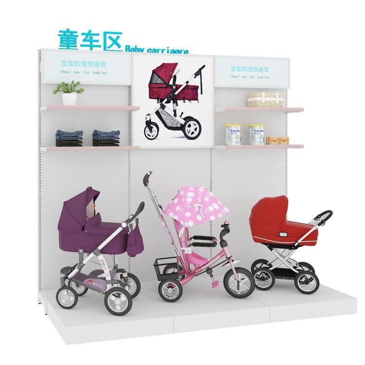 母婴店童车婴儿床展示架批发