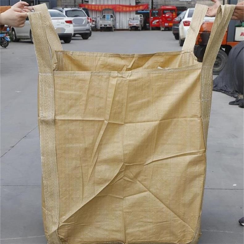 棗莊全新黃色再生料噸袋太空袋集裝包污泥預壓袋