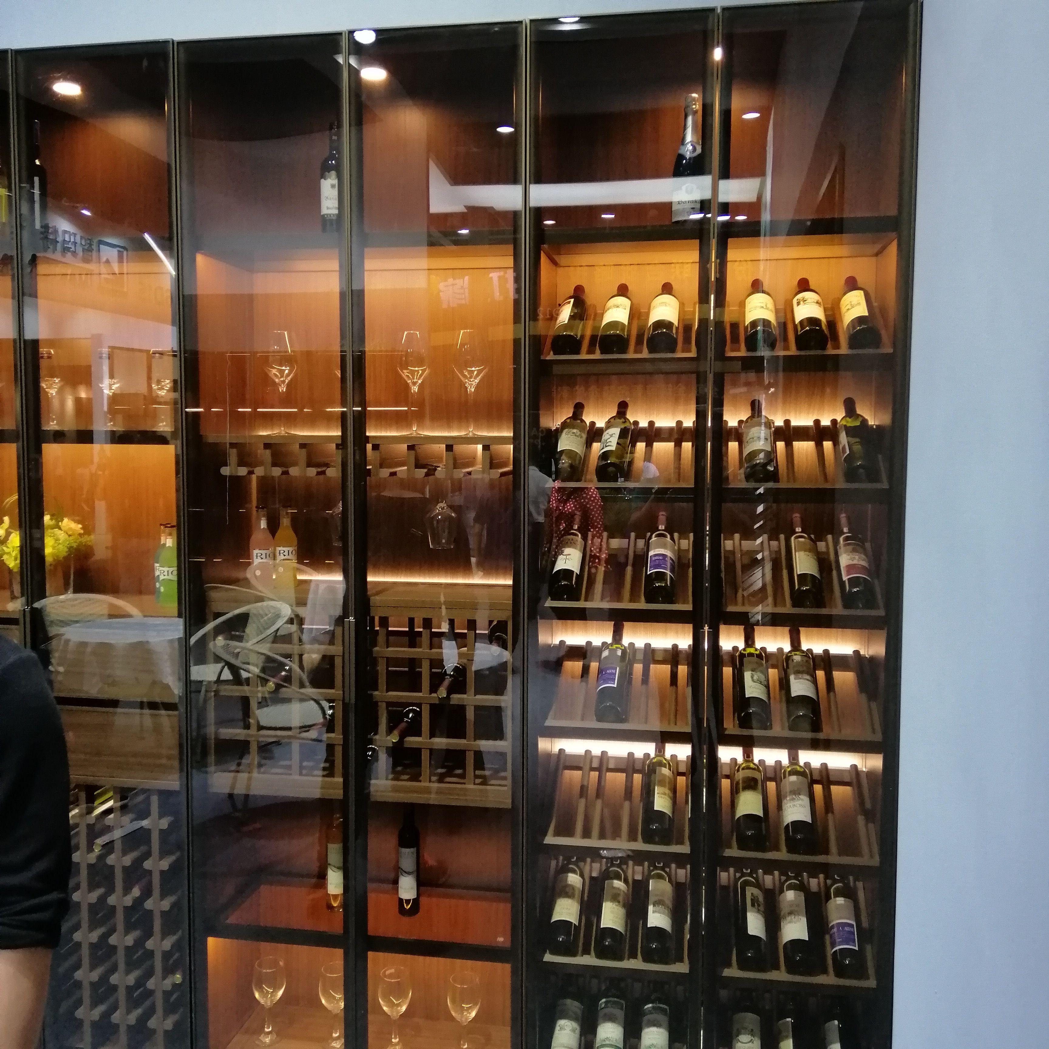佛山豪華定制不銹鋼酒柜 不銹鋼恒溫酒柜 紅酒柜