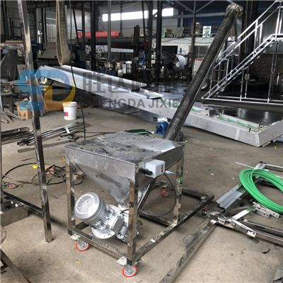 不銹鋼鉸刀面上料機不銹鋼螺旋傳送機玉米面散裝輸送機