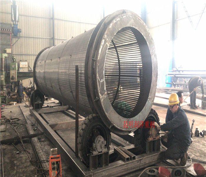 滚筒筛 昆明润洋分离机 碳钢材质滚筒筛 木屑滚筒筛选机