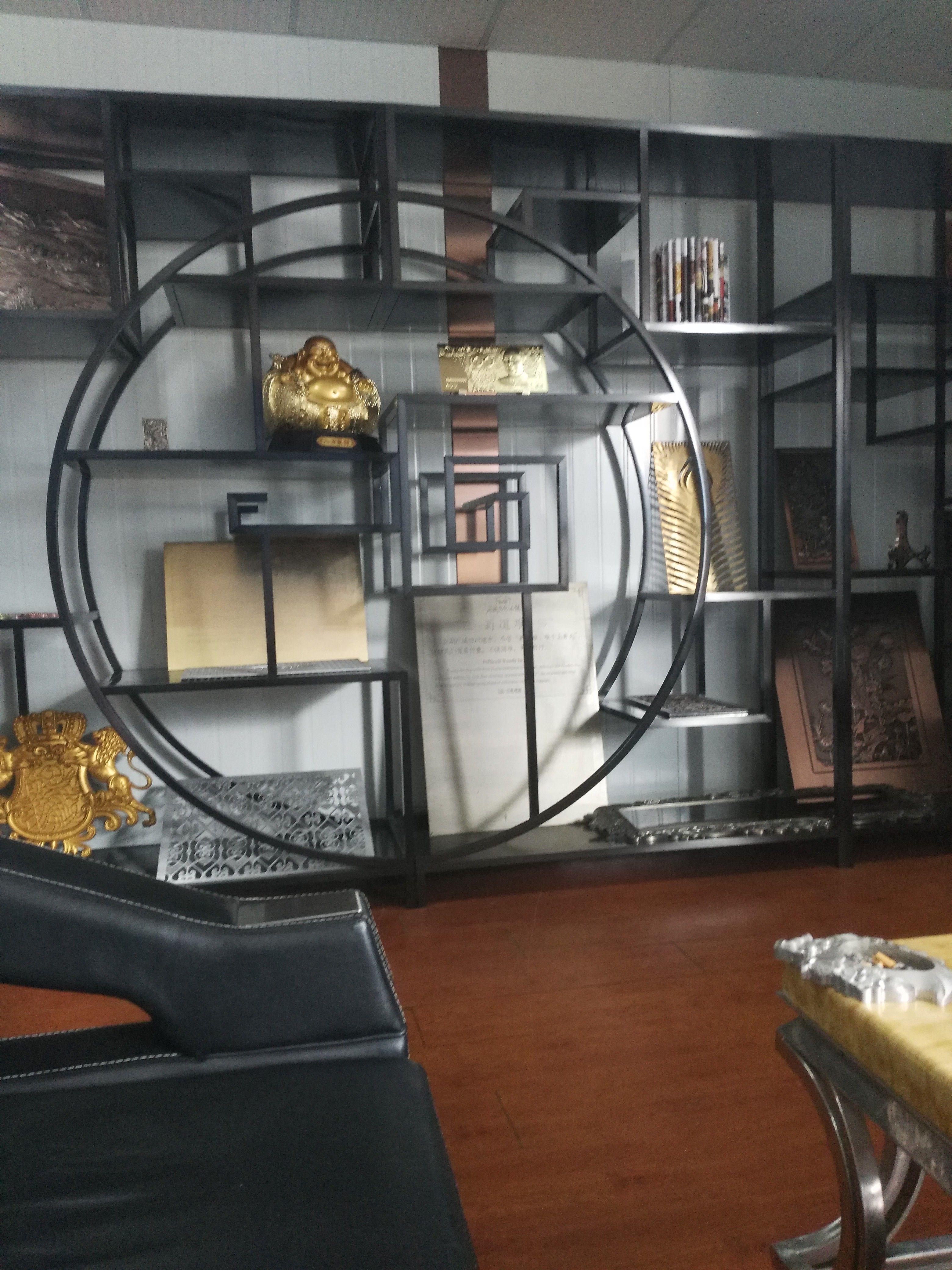 定制古典中式不銹鋼酒柜 高端酒柜定做廠家