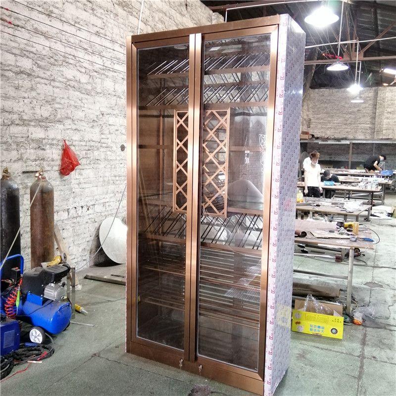 餐廳紅酒架展示柜裝飾柜加工