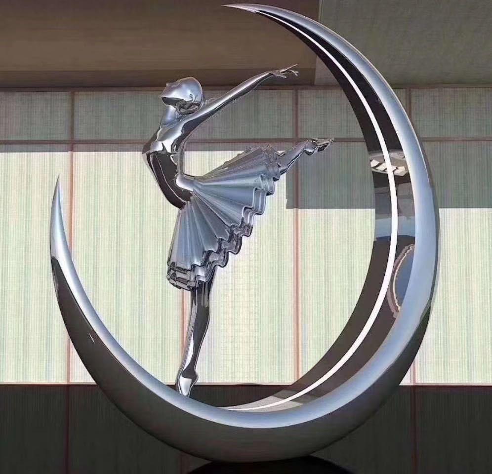 舞蹈者佛山不銹鋼景觀雕塑 步行街雕塑
