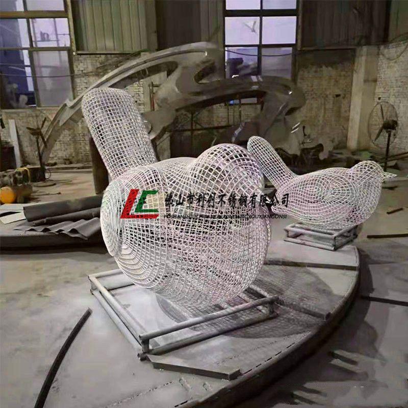 304 不锈钢小鸟 雕塑定制加工