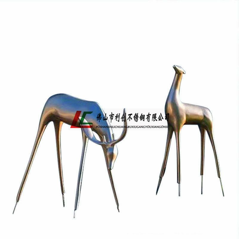 不锈钢雕塑 广场水牛不锈钢雕塑 景观不锈钢雕塑