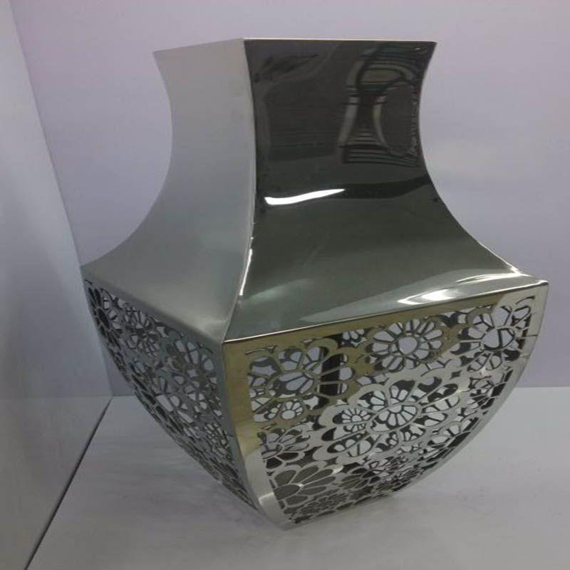 大型不锈钢花盆镀玫瑰金/花盆/组合不锈钢花盆/户外不锈钢花钵