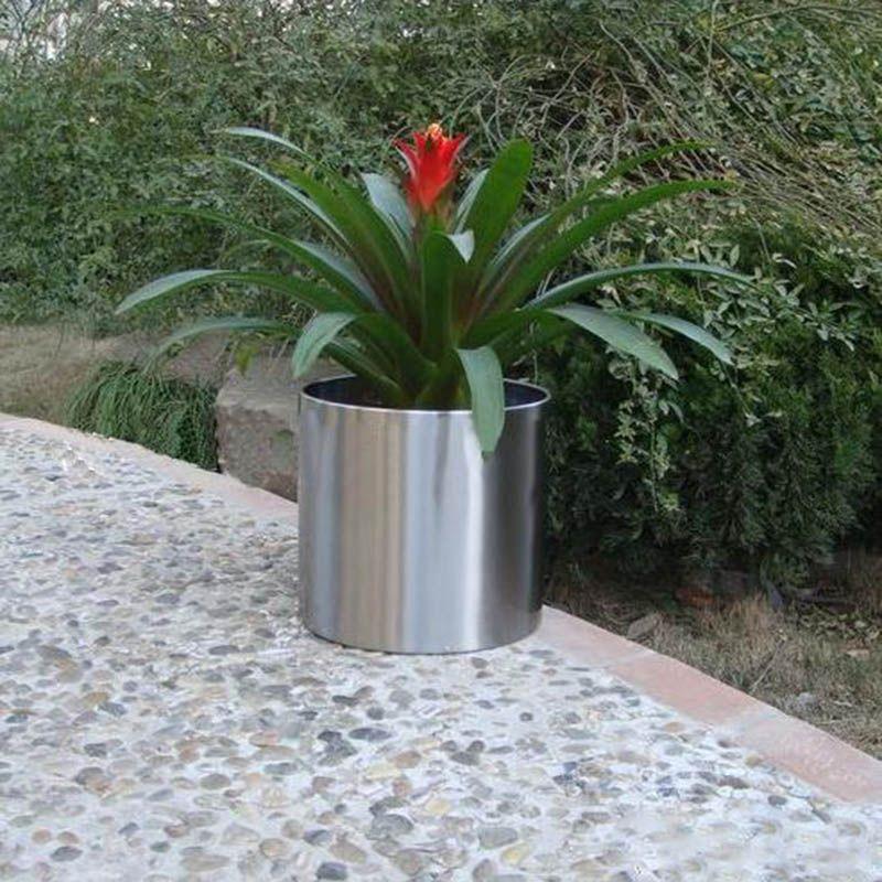 钛金不锈钢花盆,不锈钢本色花盆加工,镜面不锈钢