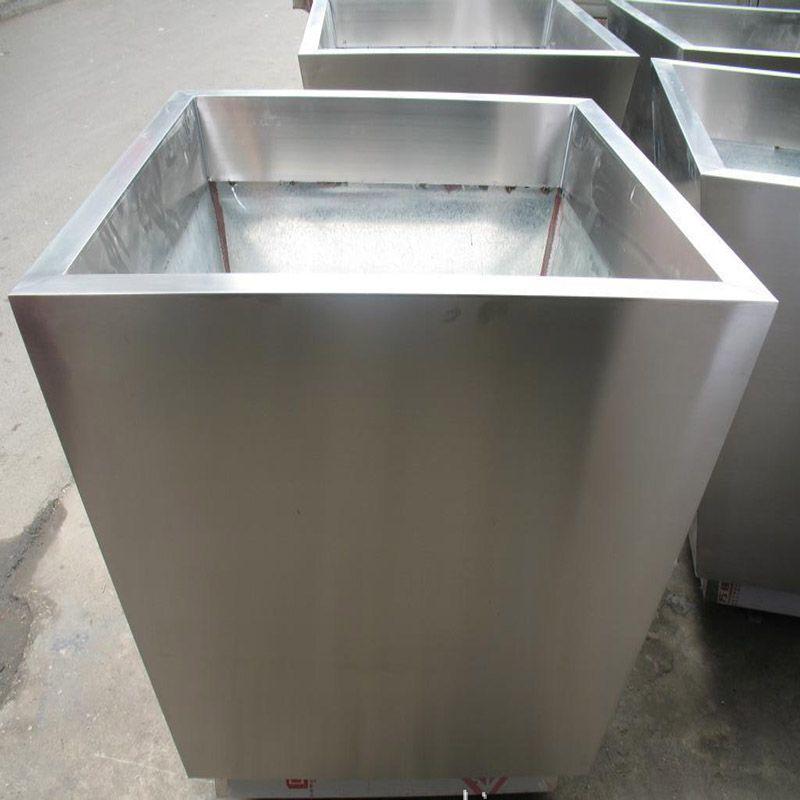 不锈钢花盆定做 加工制作不锈钢花钵 供应铁艺花盆 不锈钢烤漆花盆