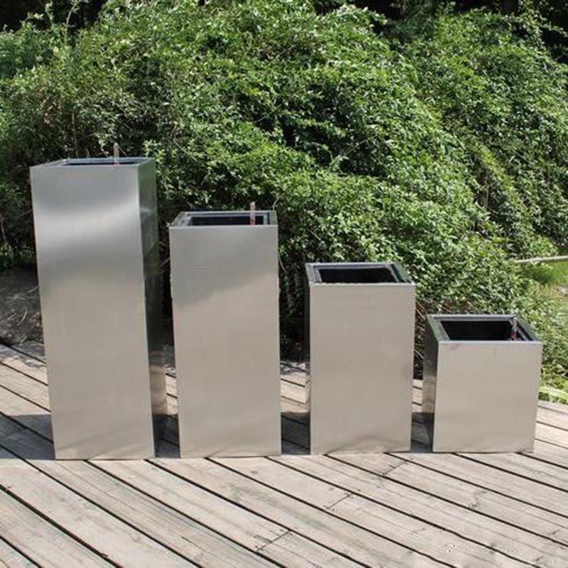 厂家直销新型镜面不锈钢花盆 园林绿化景观不锈钢花盆